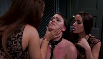 Helpless girl is tortured by sex-crazed lesbians